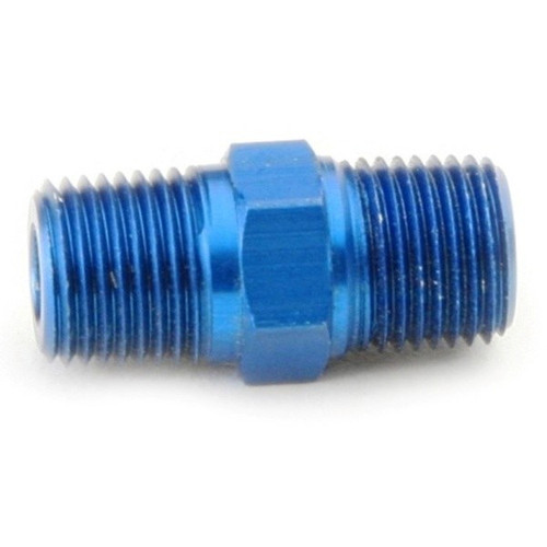 """1/8"""" NPT To 1/8"""" NPT Adapter Fitting - Blue Male Coupler"""