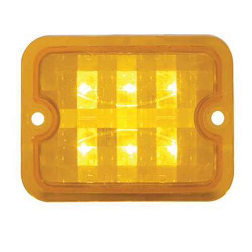 Amber Led Bulbs With Amber Lens For Chrome Mini Sand Rail Tail Lights, Each