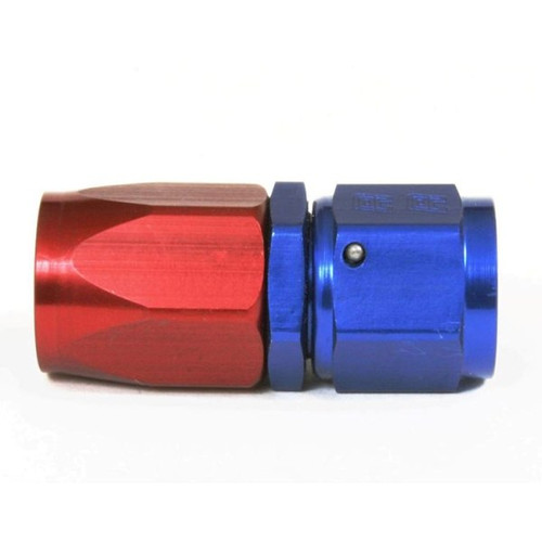 An Hose End Fitting - Female #8 / Straight-Blue/Red