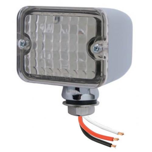 Led Mini Tail Lights - Chrome Housing-Clear Lens-Amber Bulbs
