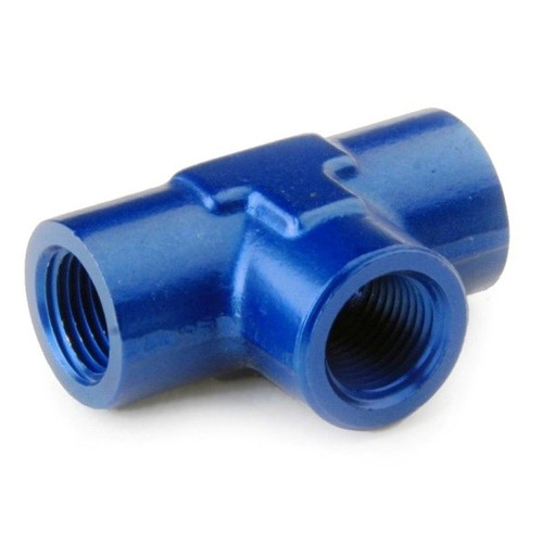 """Tee Adapter Fitting Female 1/8"""" Npt All Sides - Blue"""