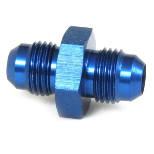 An Union Hose Adapter Fitting - Male #6 To Male #6 - Blue