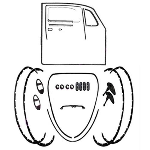 Body Rubber Seal Kit 1971-1972 Classic Volkswagen Beetle-Vw Bug