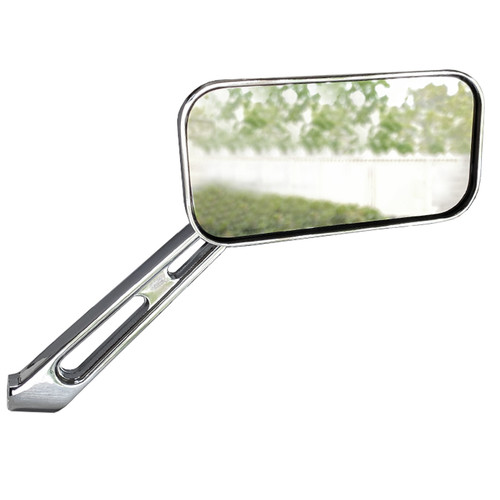 Manx Buggy Chrome Sideview Rectangular Mirror, Universal Left Or Right, Each