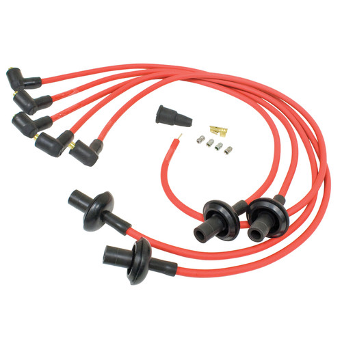 Red Silicone 8mm Spark Plug Wire Set For Air-cooled Vw Engines