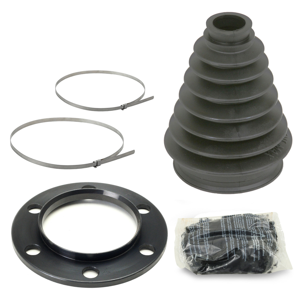 Porsche 930 Cv Joint Mini Axle Boot Kit With Chromoly Flange/Clamps/Grease