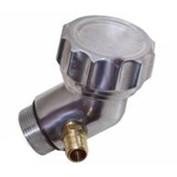 Short Aluminum Angled Vw Bug Oil Filler With Grooved Aluminum Screw On Cap
