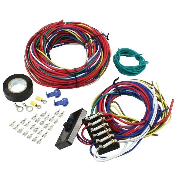 empi 9466 vw dune buggy sand rail baja universal wiring harness with fuse box Dune Buggy Motor