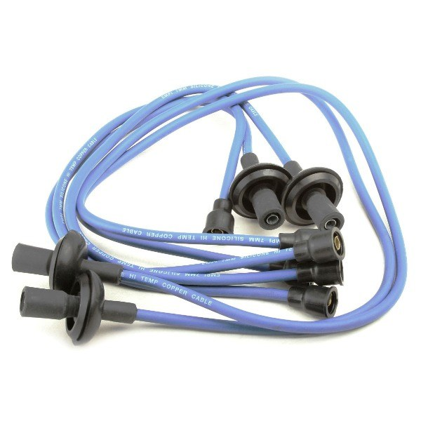 Empi 9407 Spark Plug Ignition Wire Set. Blue Silicone 7mm For Air-cooled High Temp Spark Plug Wires on