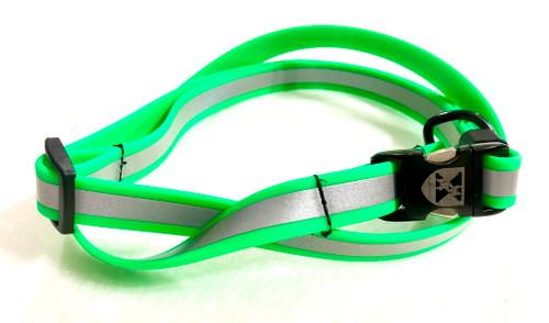 Jemelli Neck Strap in Lime Green Reflective
