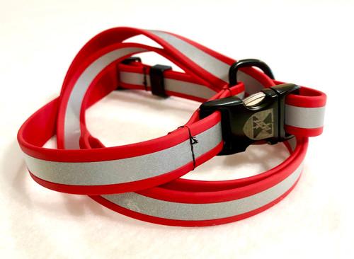 Jemelli Neck Stap in Red Reflective