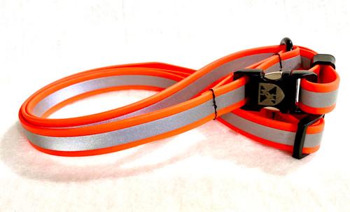 Jemelli Neck Strap in Orange  Reflective