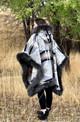 Riding Poncho in Diamond Ridge Sheepskin Trim
