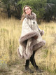 Riding Poncho in Harding Tonal Sheepskin Trim