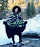 """Artist Series: Riding Poncho in """"Renewal"""" by Susan Point (One of a Kind)"""