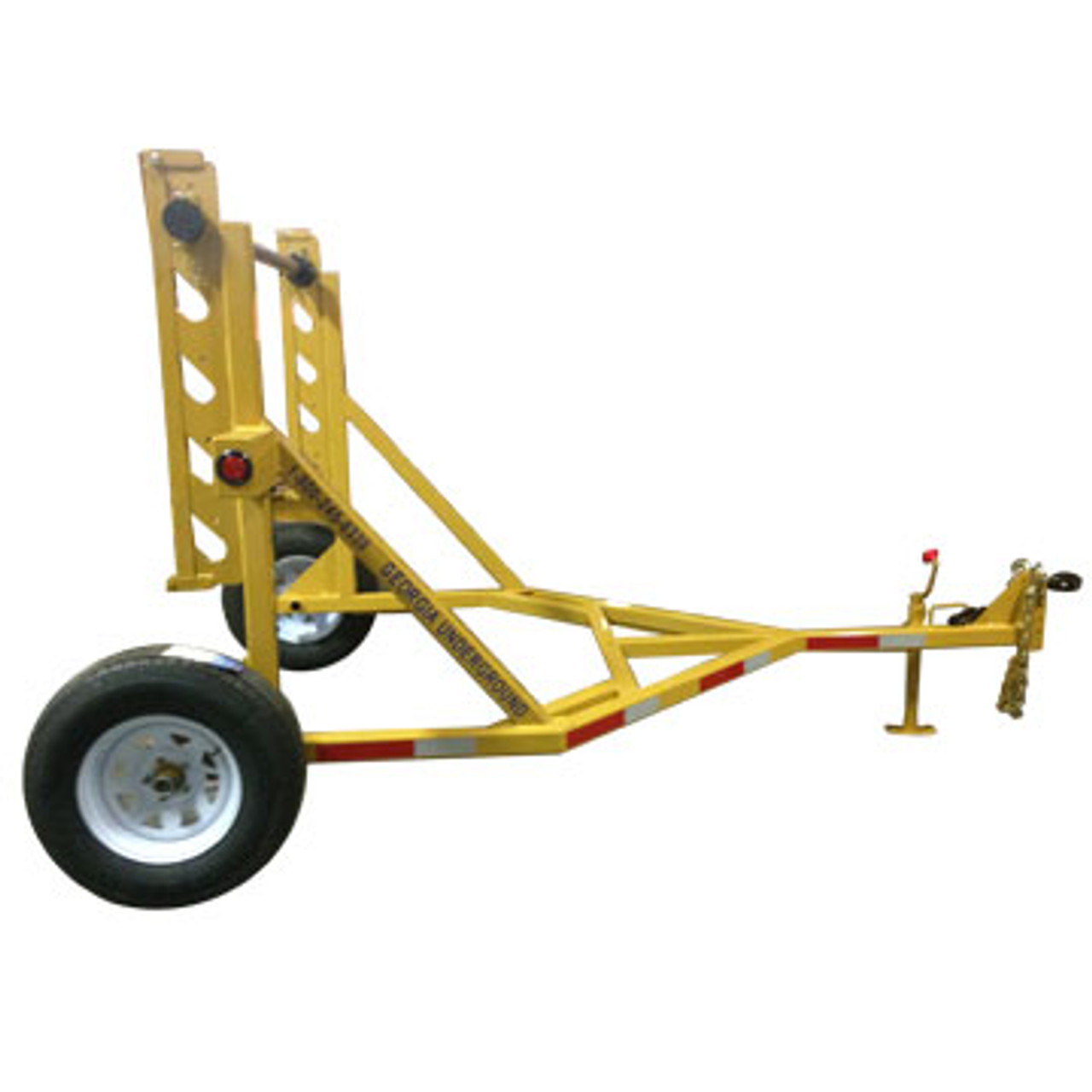 "The TR 3500 Manual Reel Trailer can handle a variety of products with a diameter from 24"" to 120"". Contact our veteran, knowledgeable staff for more information on this trailer."