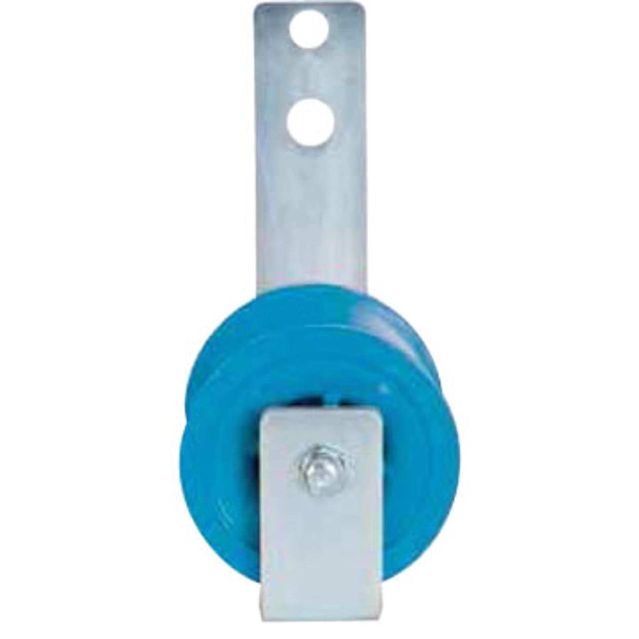 The Condux Pole Mount Single Roller Cable Block is designed for easy mounting and free-rolling required in figure-eight cable construction. Aluminum sheave and plastic sheave frames are not interchangeable.