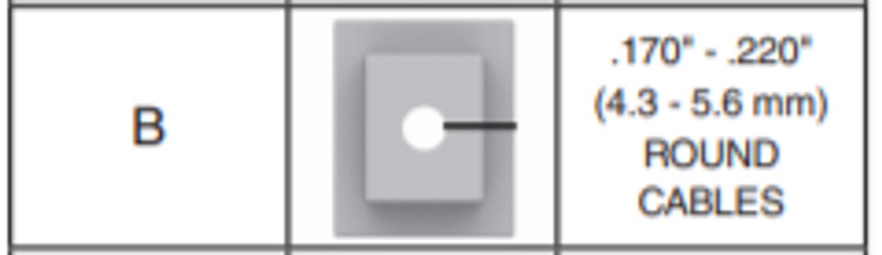 ".170""-.220"" Large B Grommet Kit DTC8 - 10pk - PLP 80061413"