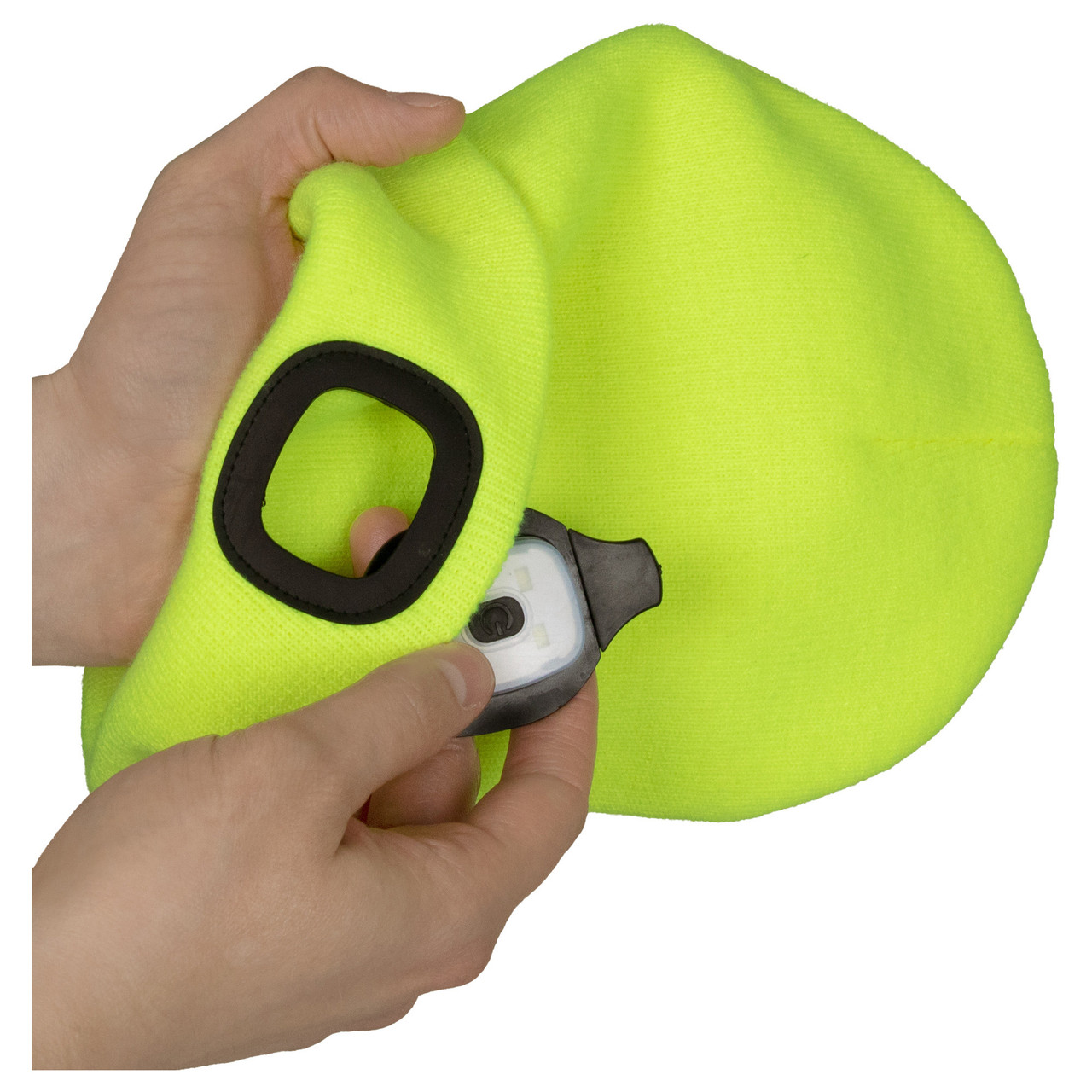 Knit Cap with Rechargeable LED Light