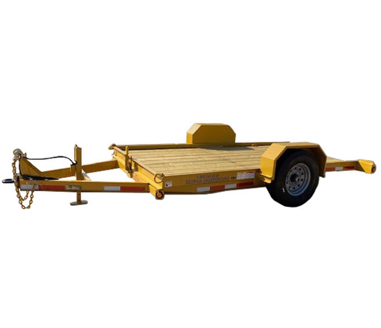 3 Ton Tilt Trailer with 12' Deck - Single Axle