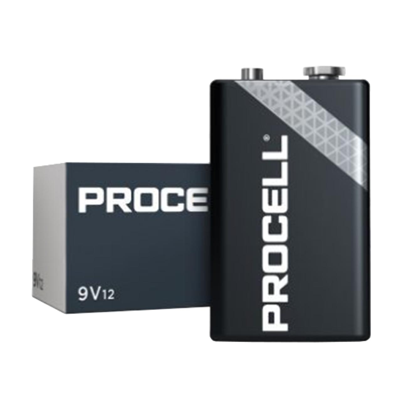 9V Duracell Procell Alkaline Batteries (12 Pack)