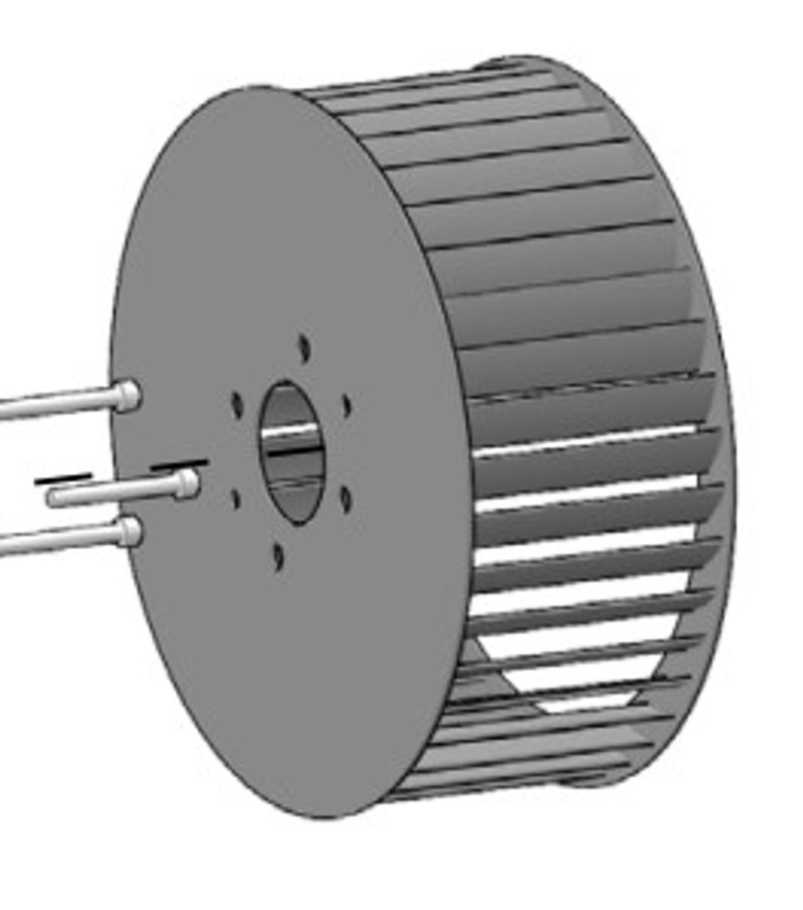 BLOWER WHEEL, BRAZED REVCOR R7 - SH-62303