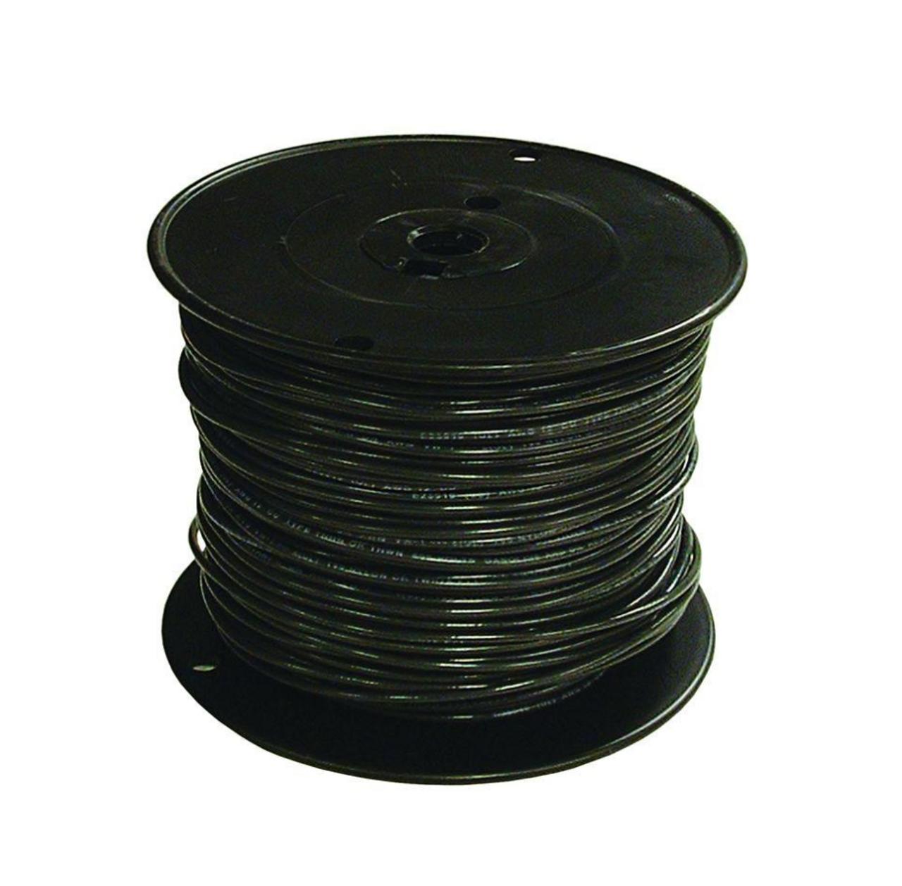 Tracer Wire - #6 Solid Copper Black Jacket 500' Reel - SW GA PESOH6