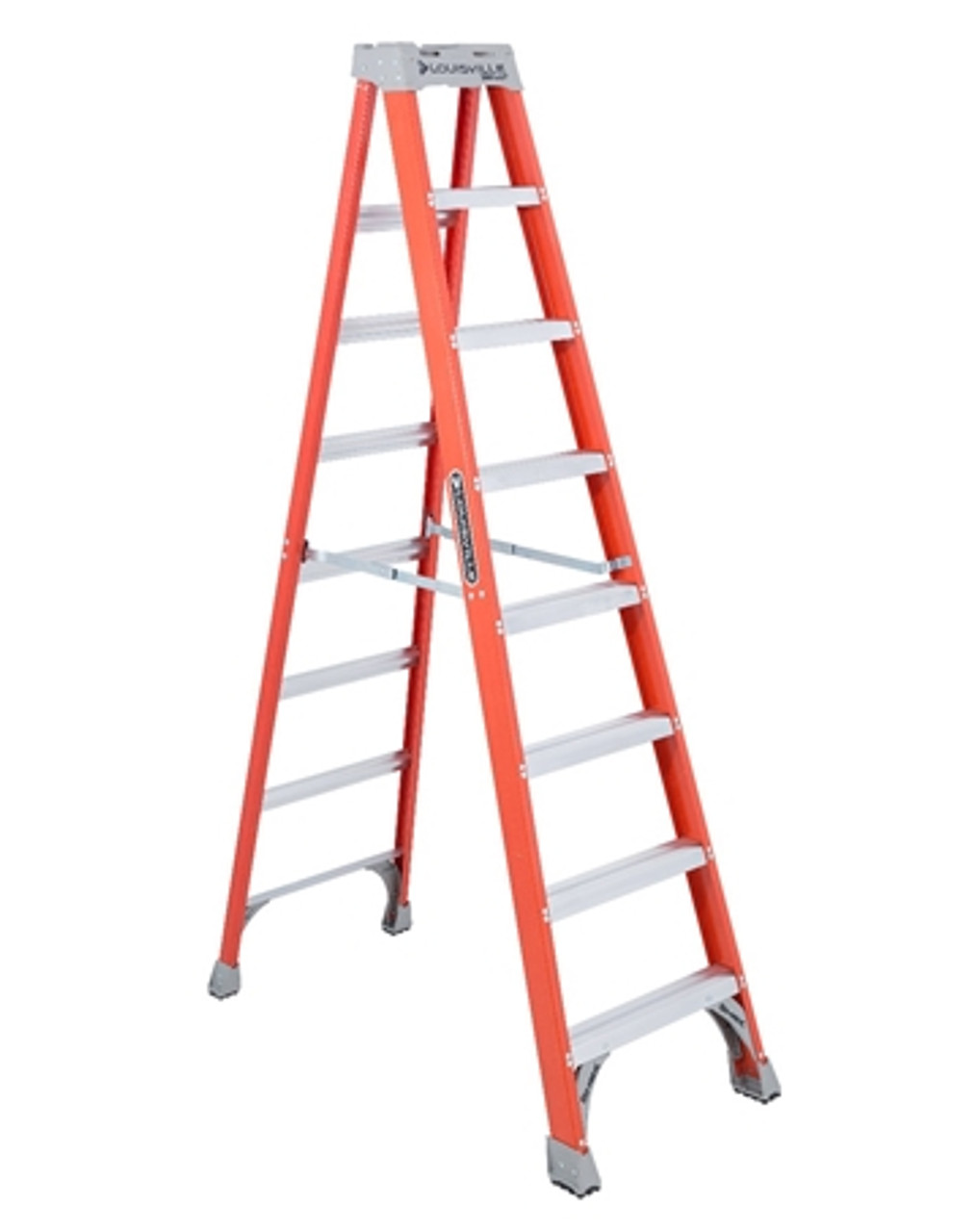 8' Fiberglass Step Ladder 300lb Capacity FS1508