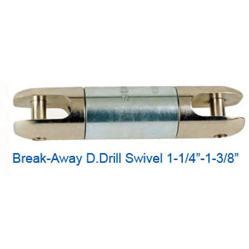 "CX08076100 Break-Away D.Drill Directional Drilling Swivel Size 1-1/4"" Break Load 3400"
