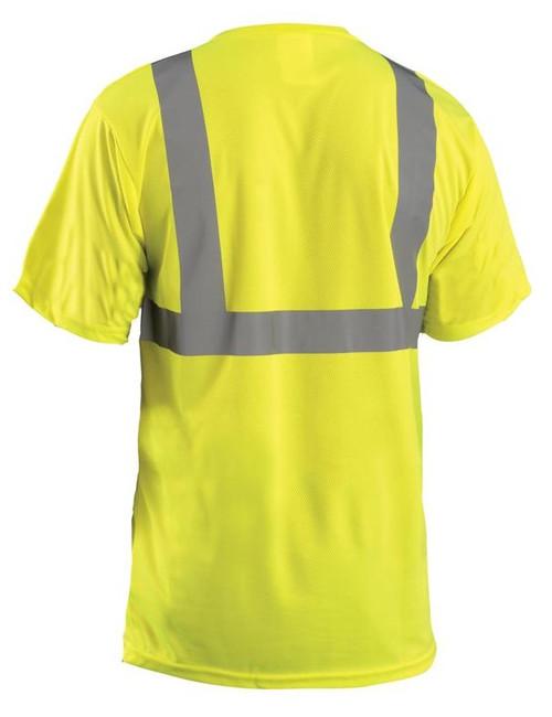 Yellow ANSI Class 2 Birdseye Wicking T-Shirt