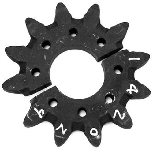 "DW142-029 12 Tooth Split Head Shaft Drive Sprocket .500"" Holes"