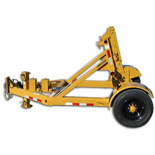 """The TR 5TSLR 5 Ton Self Loading Hydraulic Reel Trailer can handle reels up to 125"""" in diameter and 60"""" in width. Contact our veteran, knowledgeable staff for more information on this trailer."""