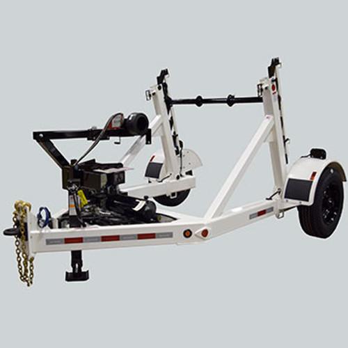 TR RR200 5 Ton Self Loading Hydraulic Reel Trailer with rewinder.