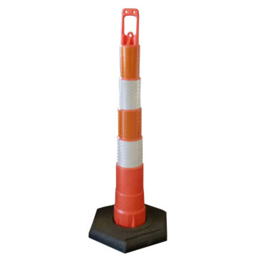 The SP C-42 Delineator or Channelizer Cone makes rerouting traffic easier. The Channelizer cones' trim line design provides compact delineation which is ideal for most rerouting traffic chores.