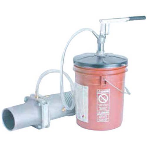 The Condux 08931100 Lube Pump.  Fits on 5 or 6 gallon pail. Comes with four feet of hose.