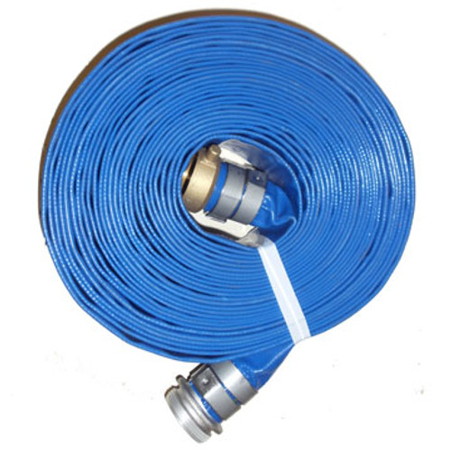"HA BD3050-T Blue 3.00"" x 50' PVC  Discharge Hose M x F Suction(Screw) Couplings"