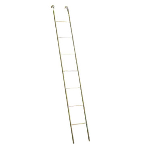Condux 08381955 Steel Manhole ladder is designed so the with the rungs riveted or welded through the side rails so they do not turn.