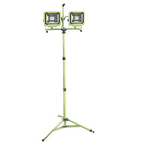 LIGHT PWL2160TS PowerSmith PWL2160TS Dual-Head 60W 6000 lm LED Work Light with Tripod