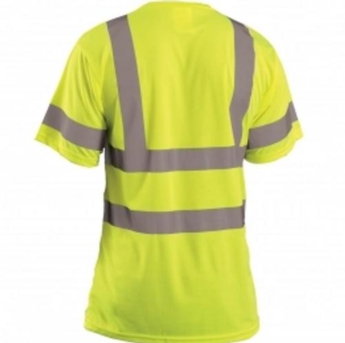 SP LUX-SSETP3B YLW Class 3 T-Shirt Birdseye Wicking