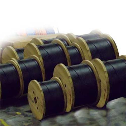 FOC F902402G5B Cable, FIber optic, 24 strand, singlemode, loose tube Gel free, single armor with Corning SMF28e+ glass.  DRC-9-02x12-D-ZRP-D-BK