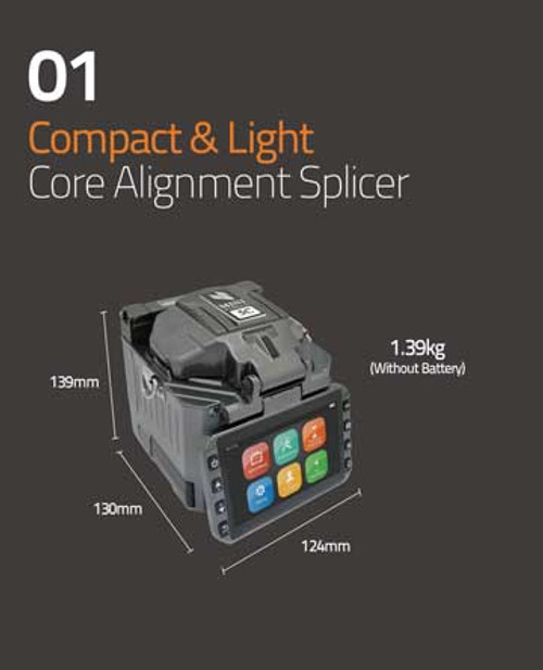 Compact and Light: Core Alignment Splicer 1.39kg