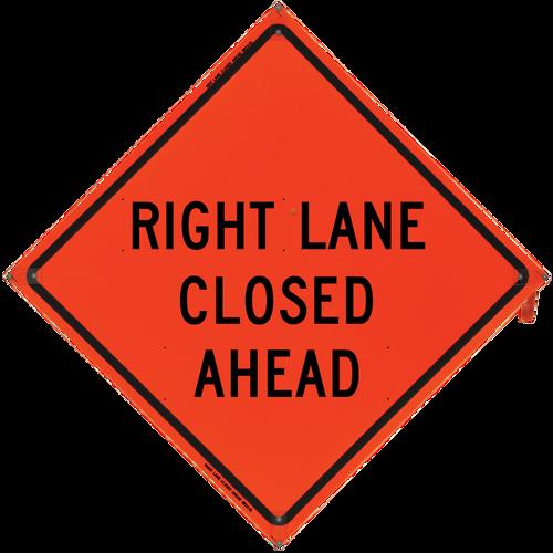 Right Lane Closed Ahead (Non-R - B NV4848RLCA