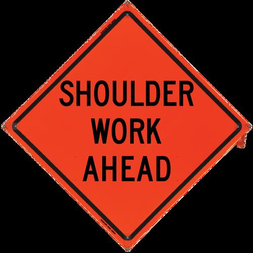 48 x 48 SHOULDER WORK AHEAD