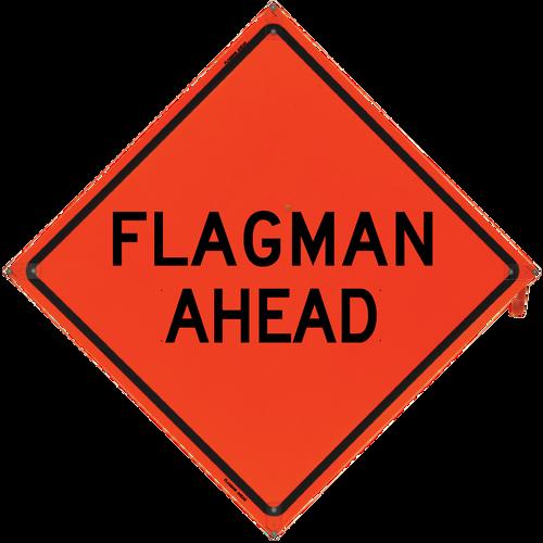 Flagman Ahead (Non-Reflective)