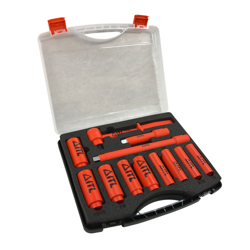 1000V Insulated 1/2-inch Drive Deep Socket Set, 11-Piece