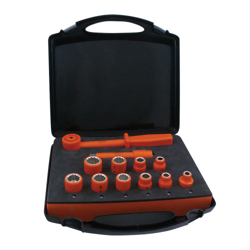 1000V Insulated 1/2-inch Drive Combination Socket Set, 12-Piece