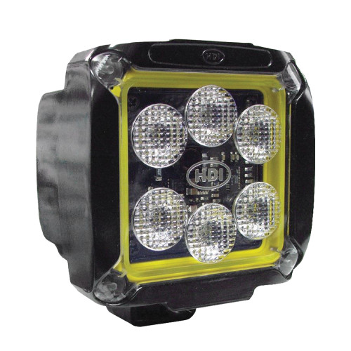 33-watt HDI Series LED Equipment Light, Spot/Wide Beam