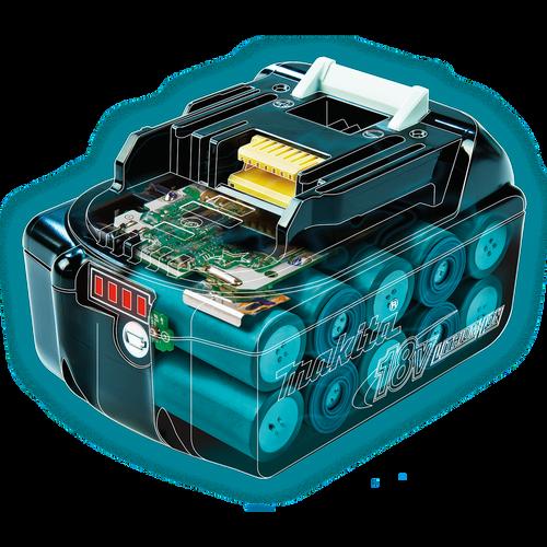 Makita BL1850B-2  18V LXT® Lithium‑Ion 5.0Ah Battery, 2 Pack
