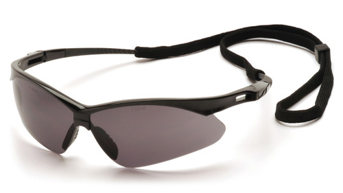 Safety Glasses, PMXTREME Gray Lens w/Cord