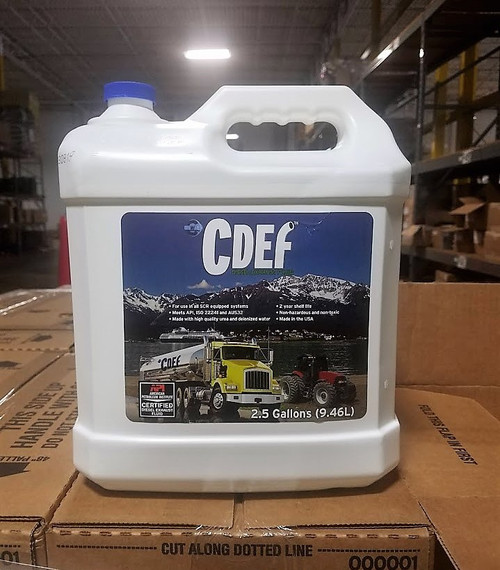 C DEF Diesel Exhaust Fluid 2.5 Gallon Box